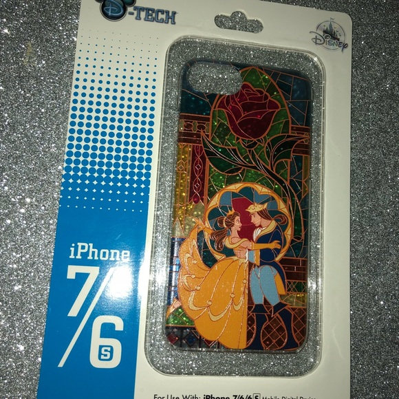 best loved 3ad9f f8ca4 New Disney Parks beauty and the beast iPhone case NWT